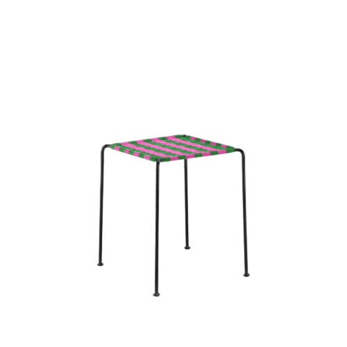 Afro stool - PINK & GREEN - India Mahdavi
