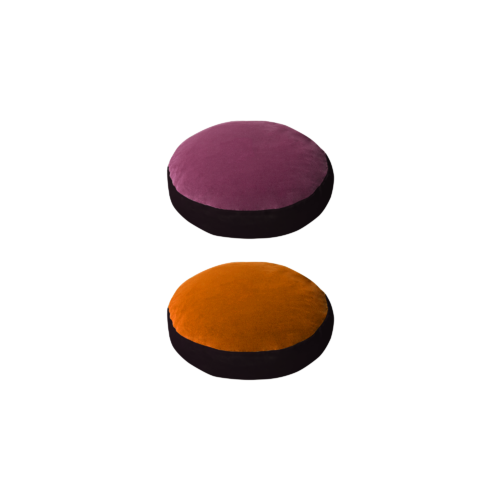 Bonbon round - lily, orange - India Mahdavi