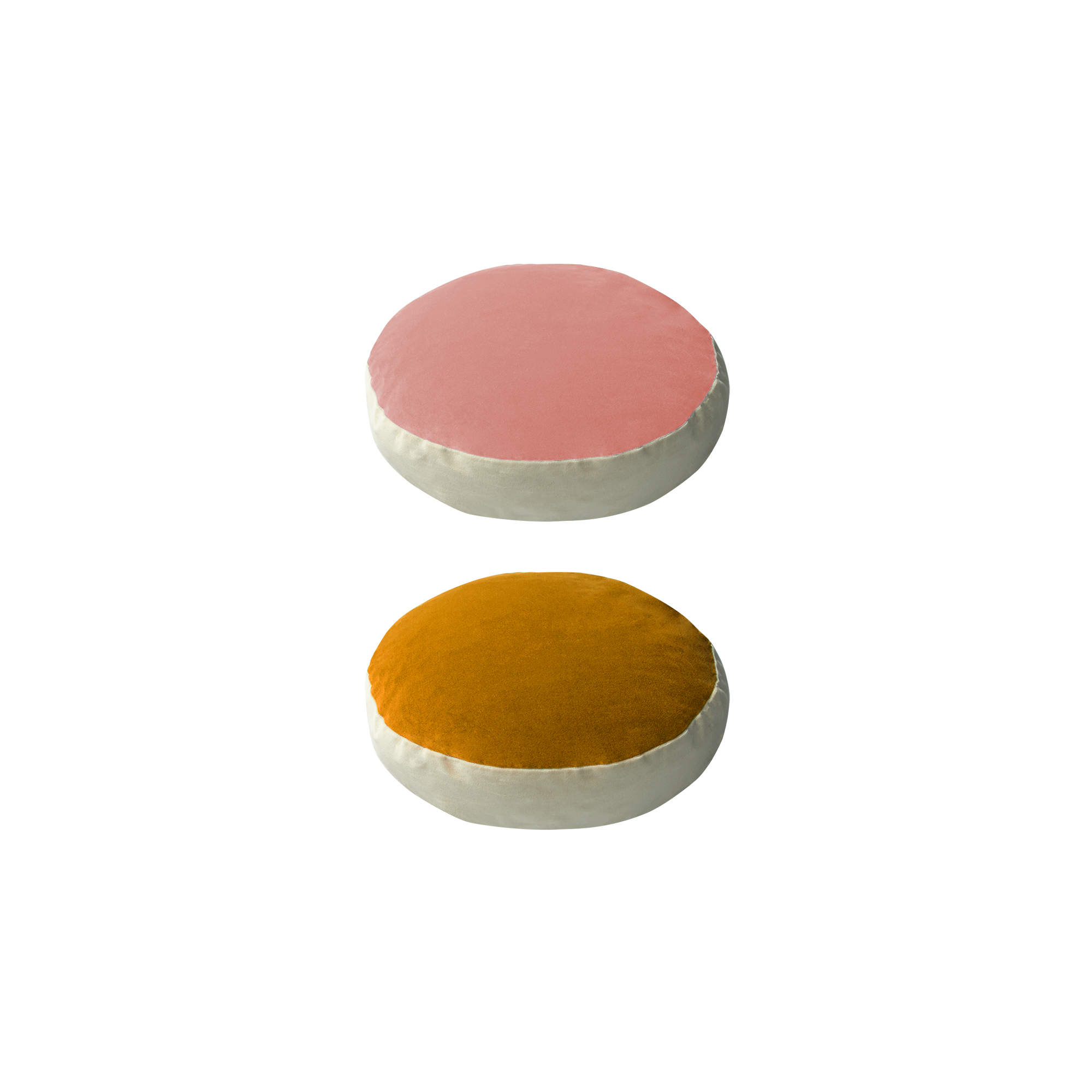 Bonbon round - powder pink, gold - India Mahdavi