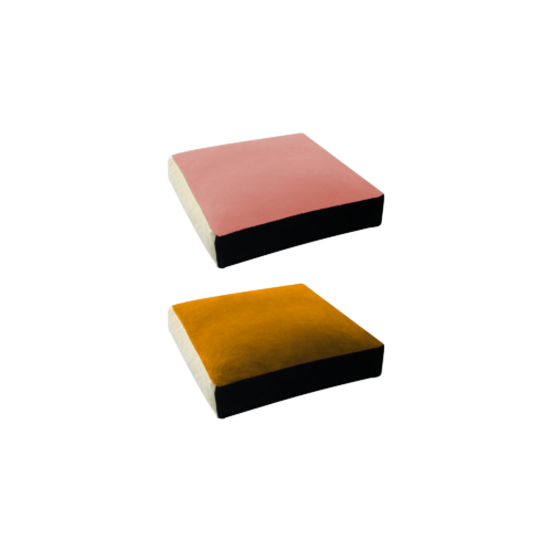 Bonbon square - POWDER PINK, GOLD - India Mahdavi