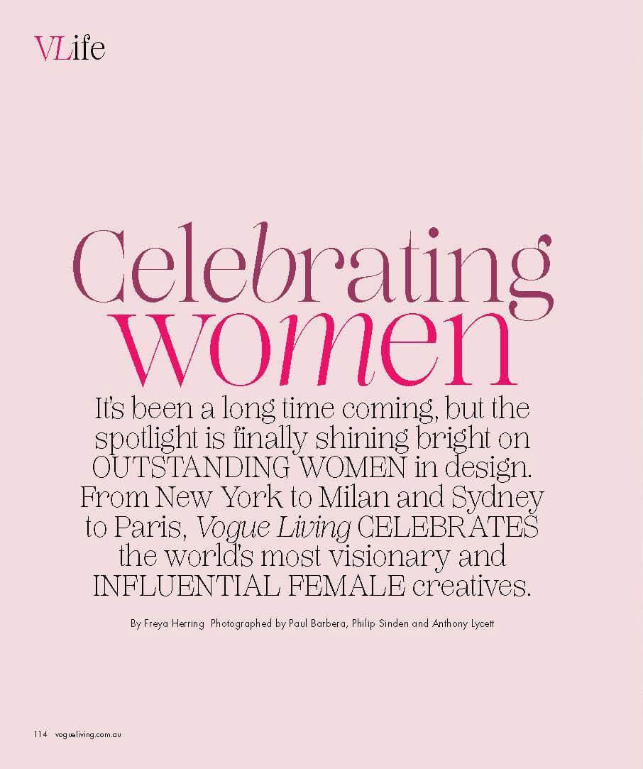 Celebretating women - India Mahdavi