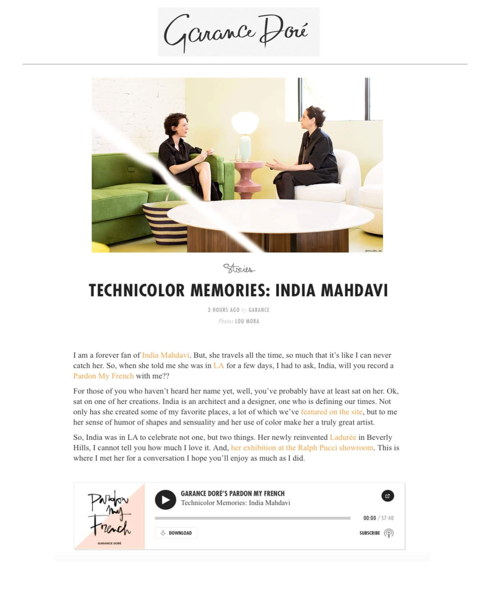 Technicolors memories: India Mahdavi - India Mahdavi