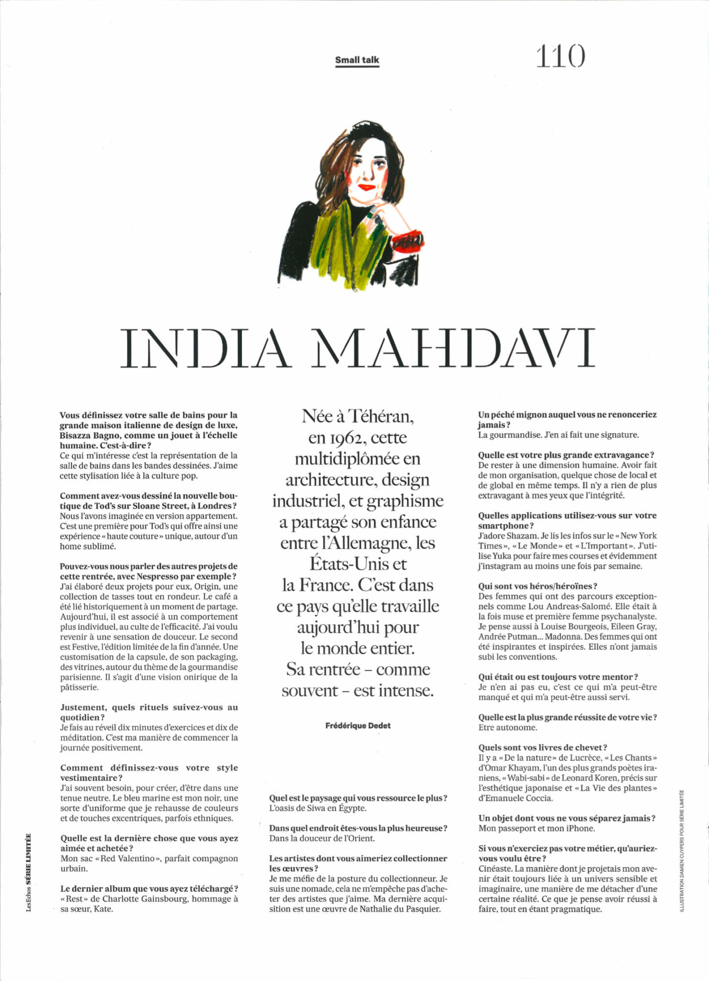 small talk - India Mahdavi