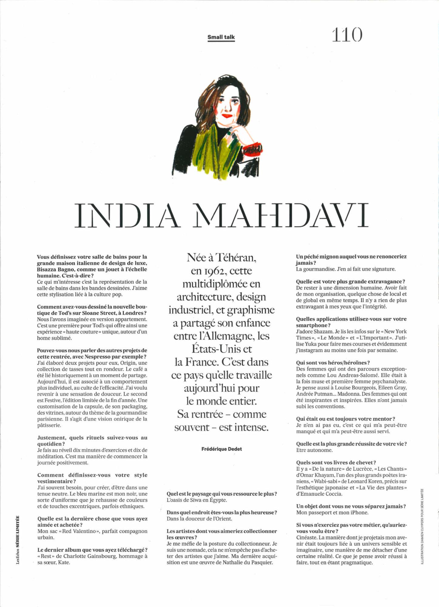 small talk - India Mahdavi