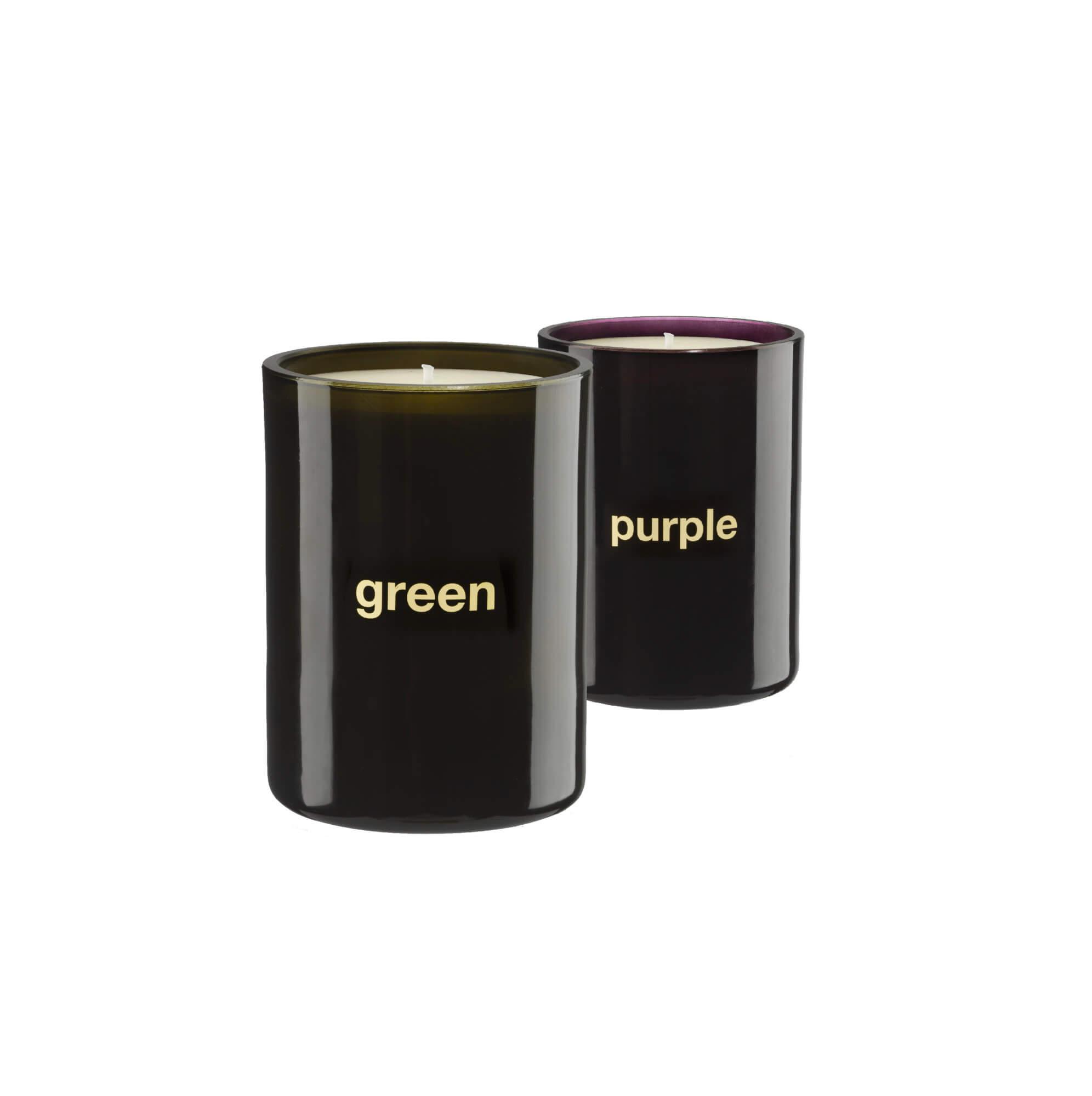 Green & Purple candles - India Mahdavi