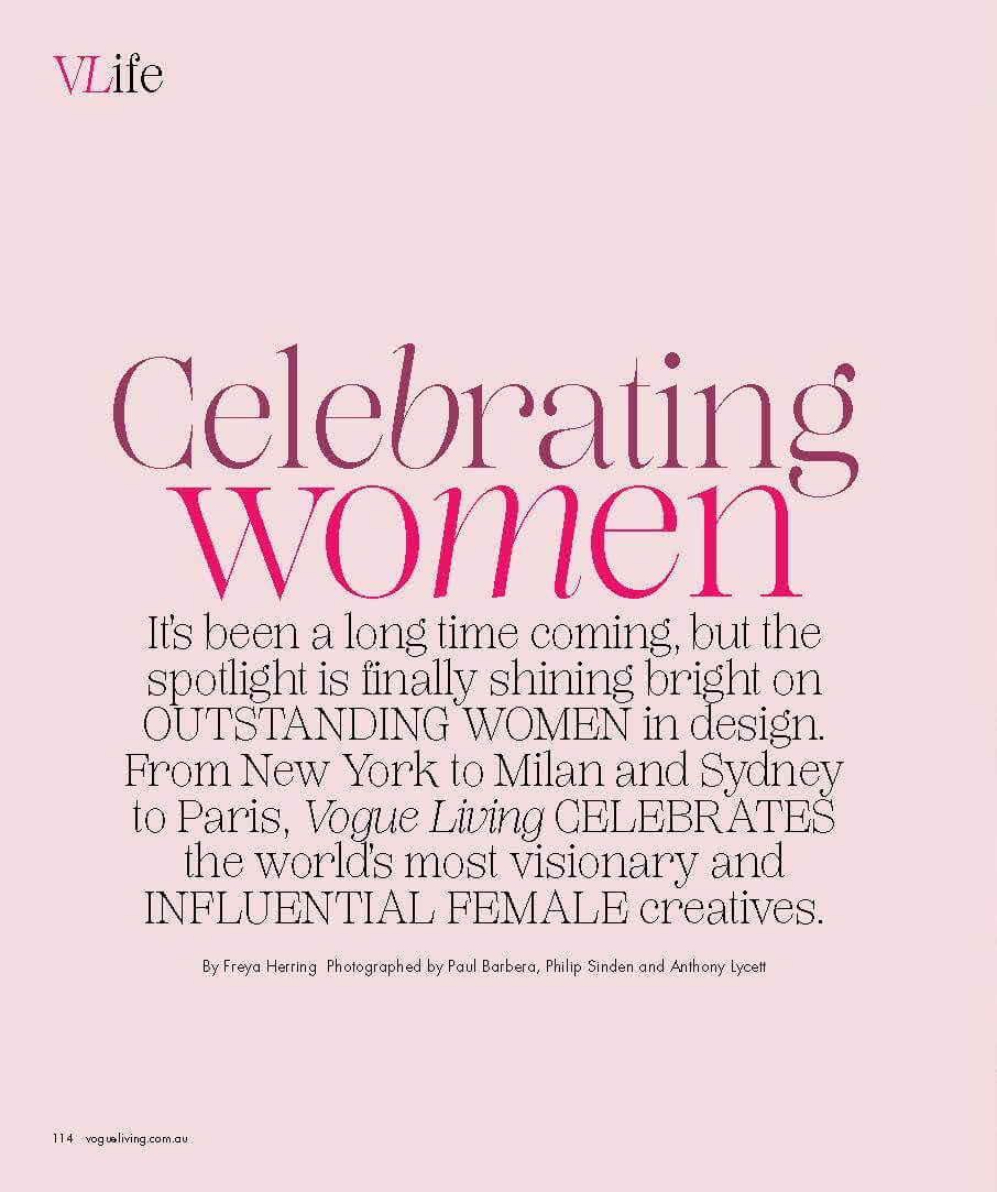 Celebretating women - India Mahdavi